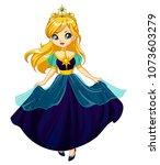 cute little princess  hand... | Shutterstock .eps vector #1073603279