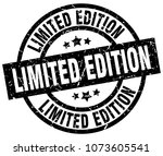 limited edition round grunge... | Shutterstock .eps vector #1073605541