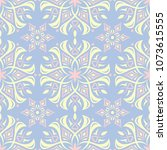 floral seamless pattern. pale... | Shutterstock .eps vector #1073615555