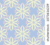 floral seamless pattern. pale... | Shutterstock .eps vector #1073616239