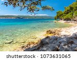 beautiful coast in dalmatia ...   Shutterstock . vector #1073631065