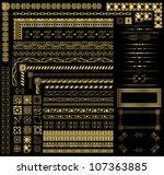 gold border elements | Shutterstock .eps vector #107363885
