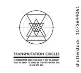 transmutation circles. line art.... | Shutterstock .eps vector #1073644061