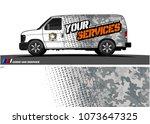 van graphic vector for vinyl... | Shutterstock .eps vector #1073647325
