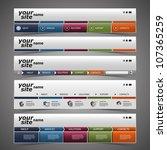 web design elements   header...   Shutterstock .eps vector #107365259