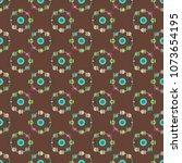 ferris wheel color seamless... | Shutterstock .eps vector #1073654195