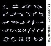 vector doodle arrow set. signs... | Shutterstock .eps vector #1073666411
