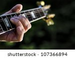 Guitar Chord Played Outdoors In ...