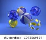 3d rendering inflatable beach... | Shutterstock . vector #1073669534