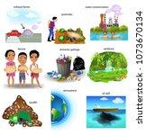 environment problems like... | Shutterstock .eps vector #1073670134