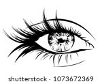 woman with stylish original...   Shutterstock .eps vector #1073672369