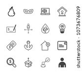 premium outline set of icons... | Shutterstock .eps vector #1073676809