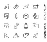 premium outline set of icons... | Shutterstock .eps vector #1073678024