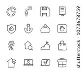 premium outline set of icons... | Shutterstock .eps vector #1073678759