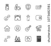 premium outline set of icons... | Shutterstock .eps vector #1073682581