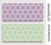 seamless horizontal borders... | Shutterstock .eps vector #1073699549