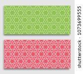 seamless horizontal borders... | Shutterstock .eps vector #1073699555
