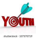 The Word Youth With An Arrow I...