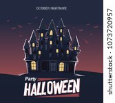 halloween house of the dead   Shutterstock .eps vector #1073720957