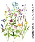 background with watercolor...   Shutterstock . vector #1073723474