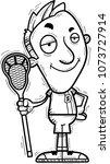 a cartoon illustration of a man ... | Shutterstock .eps vector #1073727914