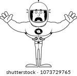 a cartoon astronaut looking... | Shutterstock .eps vector #1073729765