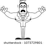 a cartoon teacher looking... | Shutterstock .eps vector #1073729801