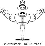 a cartoon prince looking scared. | Shutterstock .eps vector #1073729855
