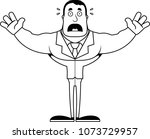 a cartoon businessperson... | Shutterstock .eps vector #1073729957