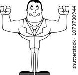 a cartoon businessperson... | Shutterstock .eps vector #1073730944
