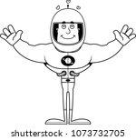 a cartoon astronaut ready to... | Shutterstock .eps vector #1073732705