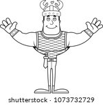 a cartoon viking ready to give... | Shutterstock .eps vector #1073732729