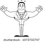 a cartoon businessperson ready... | Shutterstock .eps vector #1073732747