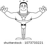 a cartoon superhero ready to... | Shutterstock .eps vector #1073733221