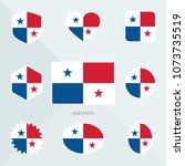 panama flag. national flag of... | Shutterstock .eps vector #1073735519