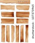 vector wood plank | Shutterstock .eps vector #107373965