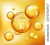 vitamin e for personal care and ... | Shutterstock .eps vector #1073742917