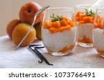 healthy tapioca pearls pudding... | Shutterstock . vector #1073766491