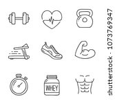 doodle health and fitness icon. ... | Shutterstock .eps vector #1073769347