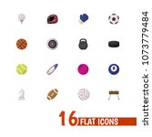 set of 16 editable sport icons... | Shutterstock .eps vector #1073779484