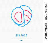 oyster thin line icon. modern... | Shutterstock .eps vector #1073787251