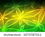 dark green  yellow vector... | Shutterstock .eps vector #1073787311