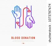 blood donation concept ...   Shutterstock .eps vector #1073787674