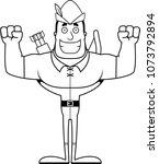 a cartoon robin hood smiling.   Shutterstock .eps vector #1073792894