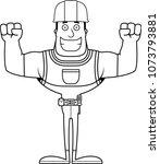 a cartoon construction worker...   Shutterstock .eps vector #1073793881