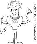 a cartoon jester looking drunk.   Shutterstock .eps vector #1073794691