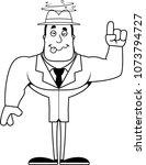 a cartoon detective looking...   Shutterstock .eps vector #1073794727