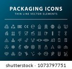 set of 50 high quality... | Shutterstock .eps vector #1073797751