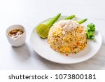 fried rice with crab with... | Shutterstock . vector #1073800181