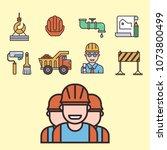 construction vector linear... | Shutterstock .eps vector #1073800499